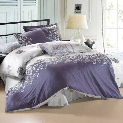 fancy 4piece 100 cotton twotone simple pattern king comforter sets