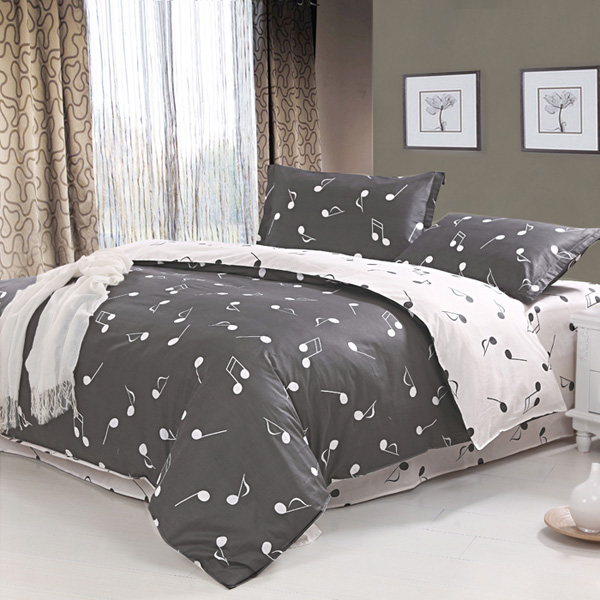 Which has a nice intricate design and louder colors bedding weddingyufei53 - Music notes comforter ...